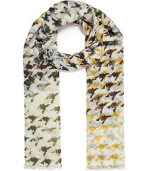 'universe' camouflage print cashmere scarf