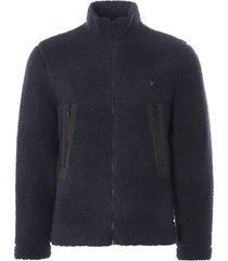 farah mayfield full zip sweatshirt | navy | f4kfa030-412