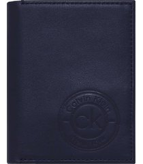 calvin klein navy blue vertical wallet