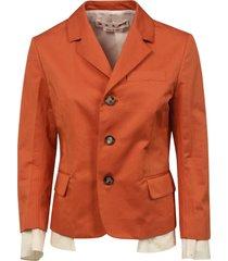 marni 3 buttons layered jacket
