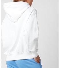 polo ralph lauren women's polo logo relaxed hoodie - white - l