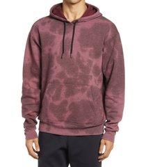zella tie dye men's hoodie, size x-small in burgundy fudge at nordstrom