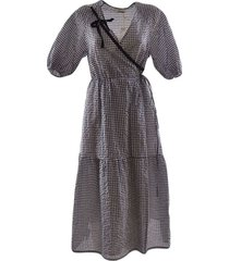 long checked dress