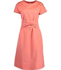 azalea round neck belted dress