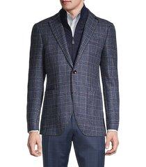 standard-fit virgin wool & cashmere travel jacket
