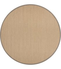 safavieh natural fiber maize and gray 6' x 6' sisal weave round rug