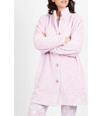 pyjama's / nachthemden admas klassieke dots fleece dressing gown