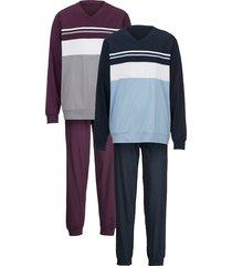 pyjama g gregory 1x aubergine, 1x marine