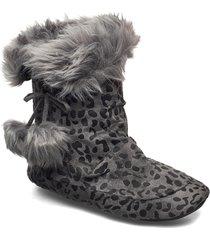 laze ladies boot slippers tofflor grå laze
