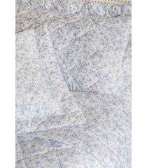 colcha queen  com porta travesseiro matelada 300 fios vitã³ria azul - scavone - azul - dafiti