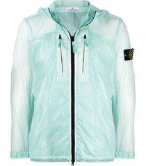 stone island skin touch lightweight jacket - blue