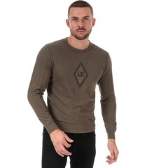 mens diamond crew neck sweatshirt