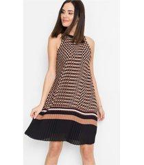 plissé jurk