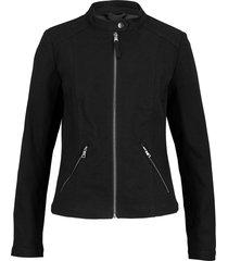 giacca biker con inserti elasticizzati (nero) - bpc bonprix collection
