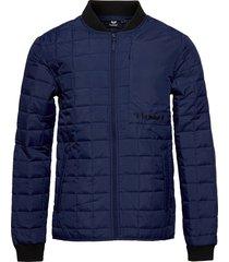 hmlluke jacket kviltad jacka blå hummel