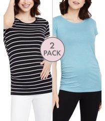 bumpstart maternity ruched t-shirt