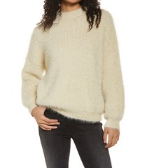 women's sndys cozi pullover sweater, size large - ivory
