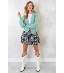 limited panter laagjes rok