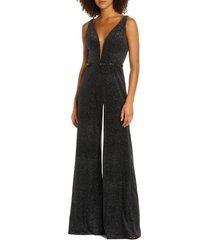 women's mac duggal wide leg velvet jumpsuit