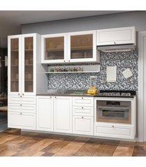 cozinha completa 10 peã§as americana multimã³veis 5663smf branco - branco/incolor - dafiti