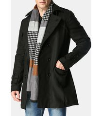 giacca da uomo autunno inverno in cotone con doppio petto