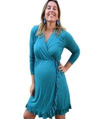 vestido maternal y lactancia roberta petróleo madremía