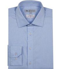 camisa dudalina manga longa wrinkle free fio tinto listrado masculina (azul marinho, 48)
