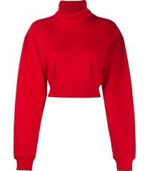 opening ceremony cropped turtleneck sweatshirt - red