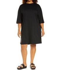 plus size women's treasure & bond t-shirt dress, size 2x - black