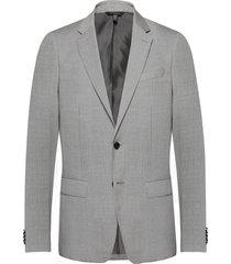 slim italian wool suit jacket blazer colbert grijs banana republic