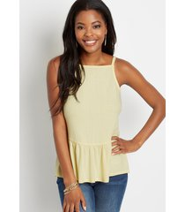 maurices womens solid tiered babydoll top