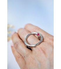 geometryczny pierścionek z kółkiem