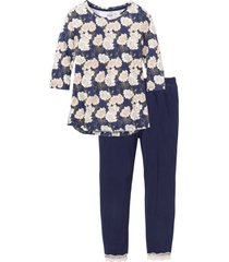 pigiama con leggings a pinocchietto (blu) - bpc bonprix collection