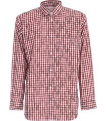 comme des garçons shirt cotton gingham on hand lace stencil print shirt