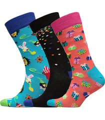 happy birthday party animal gift box underwear socks regular socks multi/mönstrad happy socks