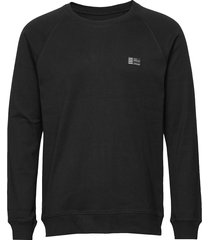 cotton rib stelt badge sweat-shirt tröja svart mads nørgaard