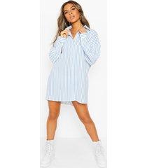 petite oversize stripe shirt, blue