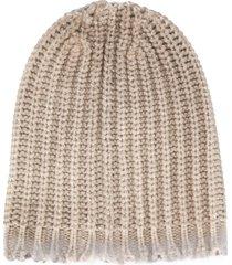 avant toi chunky knit beanie - neutrals