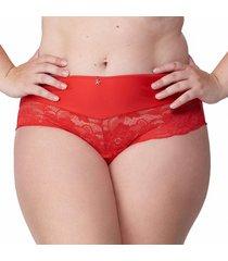 calcinha alta mais renda vermelho - 574.023 marcyn lingerie alta vermelho