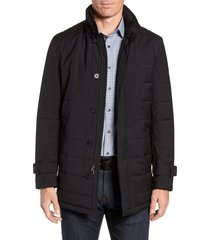 men's cardinal of canada quilted car coat, size xxx-large - black
