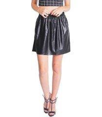 mini saia leather miss joy clochard feminina - feminino