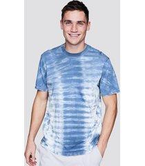 t-shirt med batikmönster - blå