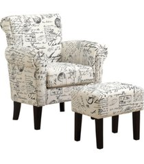 monarch specialties 2 piece set linen accent chair