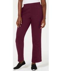 karen scott fleece pants, created for macy's