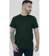 camiseta action clothing bã¡sica verde musgo - verde - dafiti