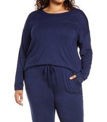 plus size women's nordstrom moonlight dream pajama top, size 2x - blue