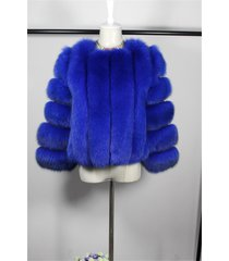 sapphire blue finland blue fox fur jacket winter coat wedding stole fur shawl