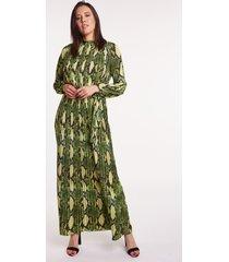 długa sukienka w wężowy wzór diana