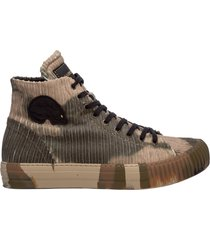 scarpe sneakers alte uomo in pelle