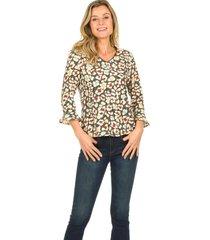 blouse met print mardez  multi